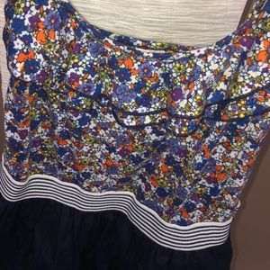 6 degrees Dresses - 6 Degrees floral and navy dress